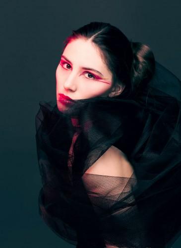 Make-up für Fashion strecke