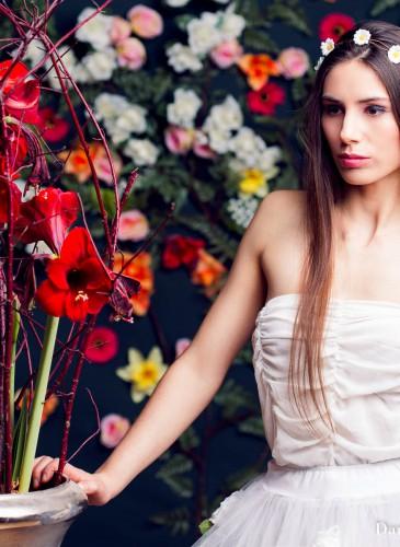 Blumen im Haar Pinterest