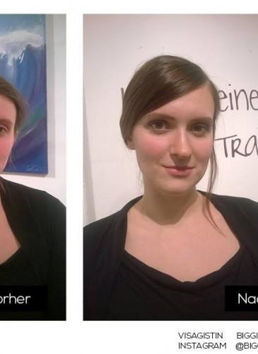 Vorher Nachher Make-up
