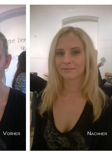 before after fashion makeup artist contour