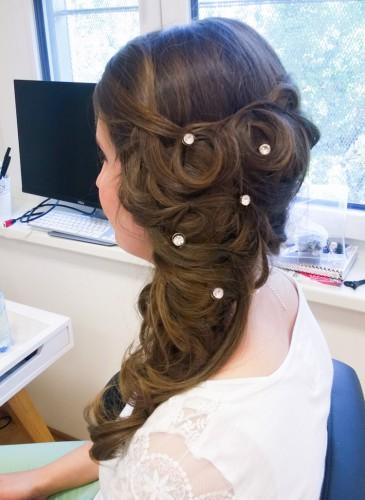 Frisur für die Hochzeit