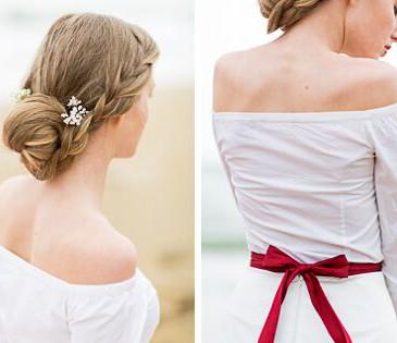 Schleife Rücken Brautkleid