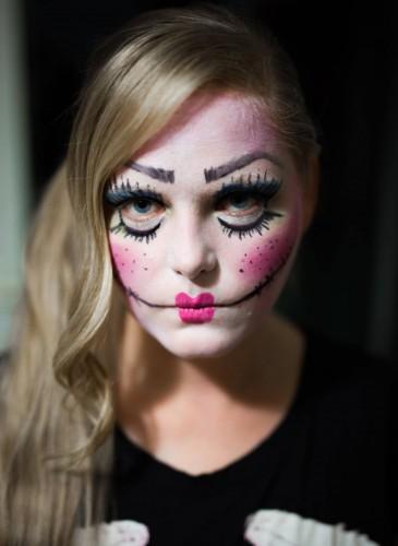 angst halloween doll makeup make up make-up