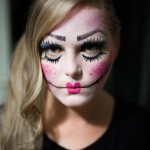 angst halloween doll makeup make up make-up